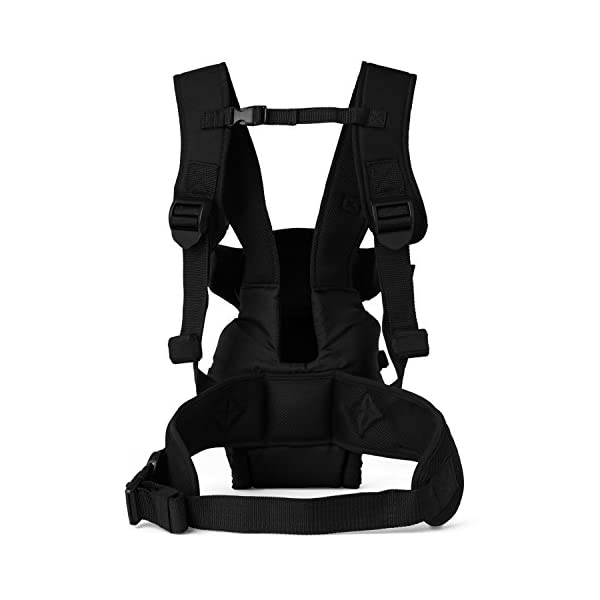 Mothercare Three Position Baby Carrier (Black) Mothercare Suitable from birth to a maximum weight of 12 kg 3-position carrier: front position facing in from birth, front position facing out from 3 months, from 6 months it can be worn on the back Removable Cushioned insert to provide added support and comfort for newborns 5