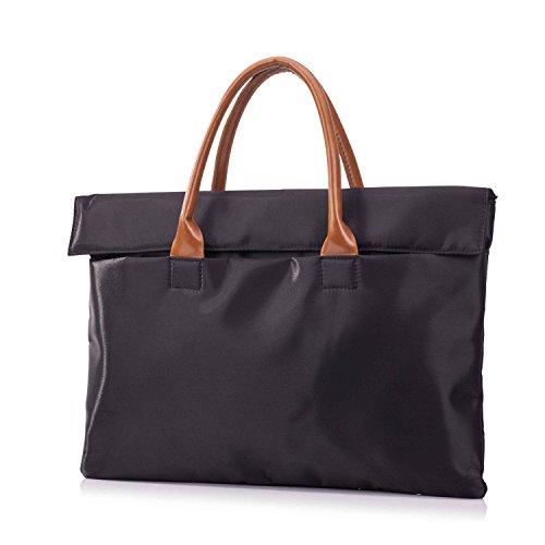 Laptoptaschen Handtaschen Damen Elegant Polyester Aktentasche Herren Messenger Ultrabook Notebook Taschen für Männer und Frauen 15.4 Zoll - Schwarz (Notebook Messenger 15.4)