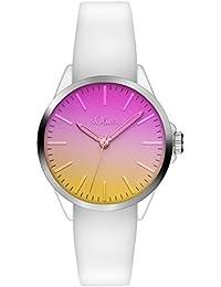 s.Oliver Unisex-Armbanduhr Analog Quarz Silikon SO-3196-PQ