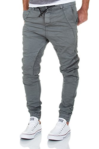 Urban Surface Jogg Jeans Herren Hose Biker Chino Denim Cargo Harem Jogger  Sweathose Slim Pants (32W   32L, Grau) a137439b25
