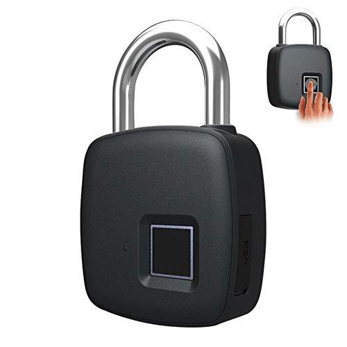 Sguan-wu Wasserdichte Diebstahlsicherung Smart Keyless Fingerprint Vorhängeschloss Koffer Tasche Türschloss