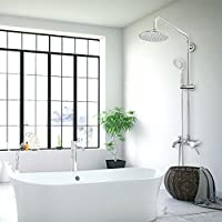 Horleora sistema de ducha - 6 pulgadas conjunto de ducha con mezclador agua fría y caliente plateado - cromo
