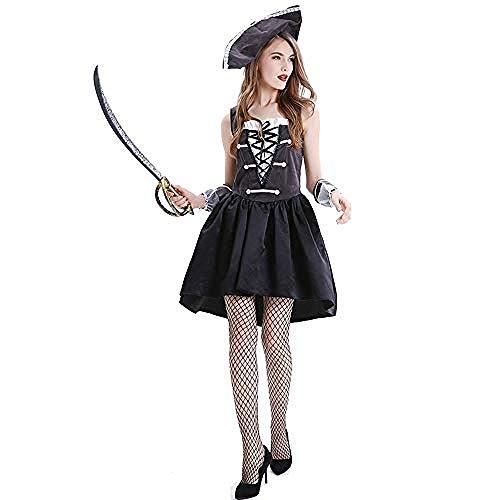 kostüm Onesie.Adult Fancy Dress Karneval Erwachsene Frau Pirat Cosplay Weiblich Sexy Kleid Halloween Maskerade Kostüm - Ghost Piraten Adult Kostüm