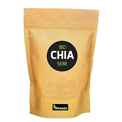 semi di chia biologici | alta qualità | fonte di vitamine, minerali e omega3 | sacchetto da 1kg | hanoju®