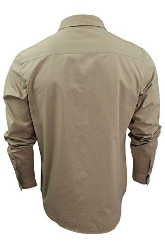 Brave Soul -  Camicia Casual  - Basic - Classico  - Maniche lunghe  - Uomo Pietra