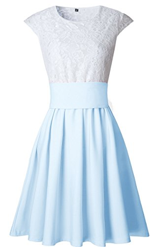 ECOWISH - Tailleur-jupe - Femme bleu clair
