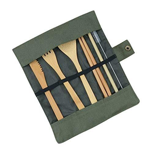 Lefu Juego cubiertos bambú 7 piezas Juego ecológico