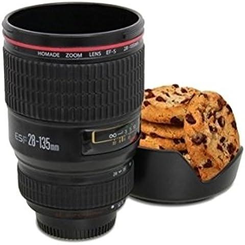 kit taza de acero inoxidable de lente de camera con soporte de galleta 24 -105mm para té agua taza de café taza de acero [version:x7.2] by