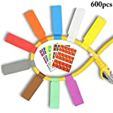 Outgeek 600PCS Cable Label Multipurpose Cord Tag Cord Identification Cable Label