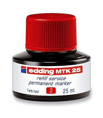 Preisvergleich Produktbild Edding 4-MTK25002 e-MTK 25 Refill Service Permanent Marker, 25 ml, rot