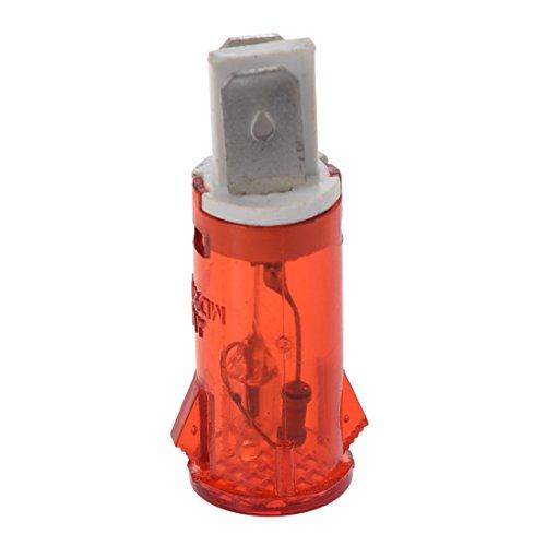 Luz indicadora - TOOGOO(R) 20 * Luz indicadora de control roja AC 220V 2 terminales de neon para intermitente