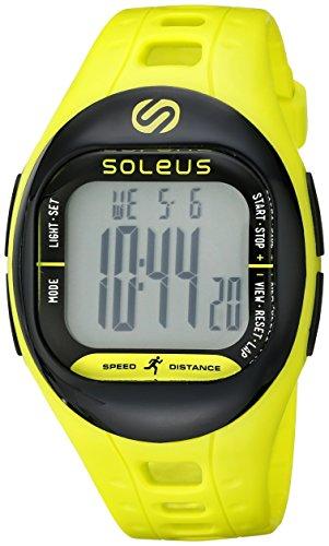 Soleus Tempo Laufuhr Sportuhr Aktivitätstracker mit 3D Beschleunigungsmesser - Limette/Schwarz (Soleus-uhren)