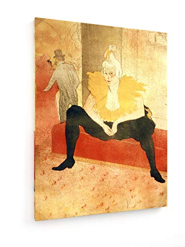 Henri de Toulouse-Lautrec - Clowness Cha-U-Kao - Lithographie - 75x100 cm - Textil-Leinwandbild auf Keilrahmen - Wand-Bild - Kunst, Gemälde, Foto, Bild auf Leinwand - Alte - Kabarett Kostüm Bilder