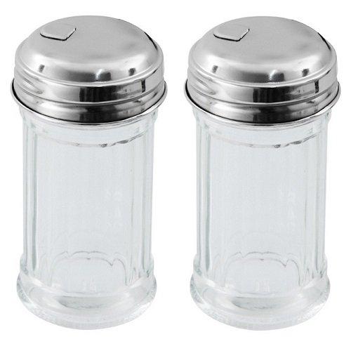 zuckerstreuer viva haushaltswaren 2 x mini zuckerspender im american style mit deckel zuckerdose aus glas als zuckerdosierer verwendbar a 45 cm wmf ersatzglas