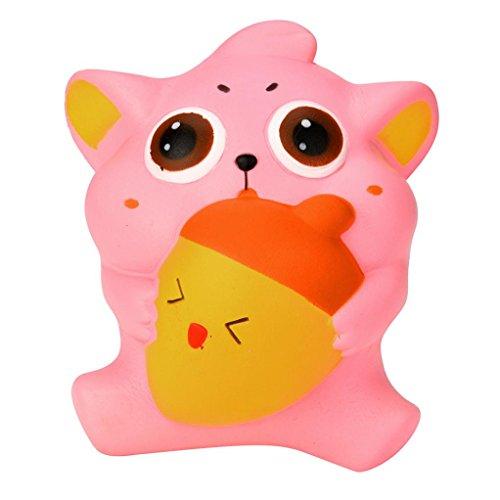 iezekatze-Creme Duftende Squishy langsame aufgehende Squeeze-Bügel scherzt Spielwaren-Geschenke (Rosa) (Nette 10 Jährige Jungen)