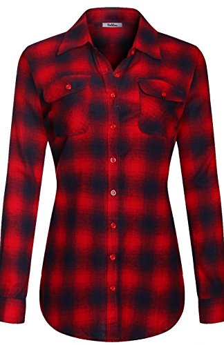 bodilove-womens-warm-flannel-long-roll-up-sleeve-button-up-plaid-shirt-red-navy-s-ins-1543st