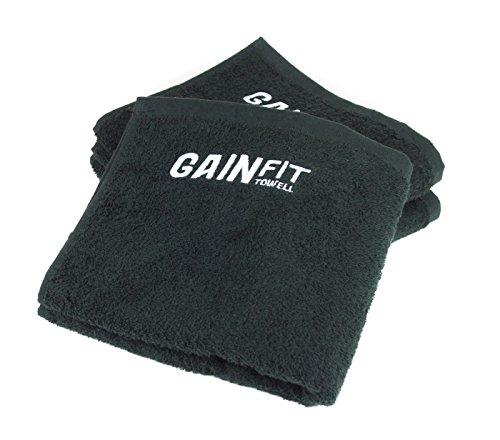Set da 3 asciugamani per il fitness con una pratica tasca per il cellulare, chiavi, tessere e altro – l'asciugamano perfetto per la palestra di cotone al 100%