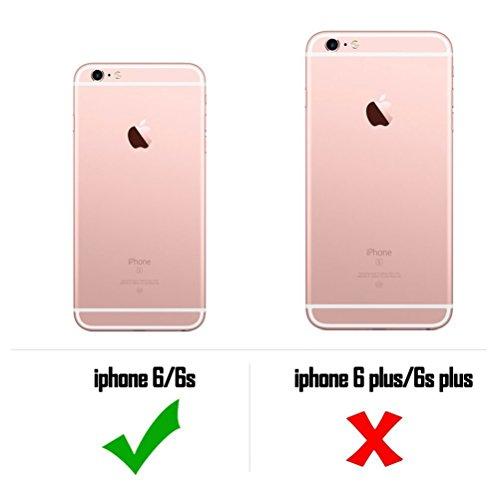Coque iPhone 6 Plus, Étui iPhone 6S Plus [avec Verre Trempé], Étui Housse Téléphone le soulagement Étui TPU Silicone Souple Coque Motif Arrière Case Antichoc Résistant Aux Housse Étui, Rose Rouge Grue Blanche