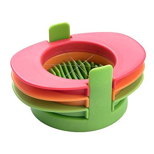 Eierschneider 3 in 1 Gadget Tools Flower Slicer Mold Ränder(Rot grün orange)