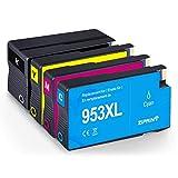 ZIPRINT Kompatibel HP 953XL 4 Multipack Druckerpatrone für HP OfficeJet Pro 8710 8715 HP OfficeJet Pro 7720 7730 HP OfficeJet Pro 8725 8720 8730 HP OfficeJet Pro 8210 AIO
