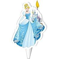 Vela para tarta de cumpleaños Disney con diseño de Princesa Cenicienta, producto oficial de Dekora, 7,5cm, W505