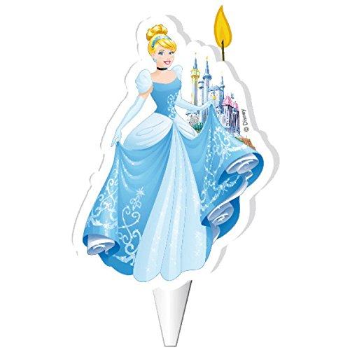 Bougie officielle Princesse Cendrillon Disney de Dekora - Pour gâteau d'anniversaire - 7,5cm - W505
