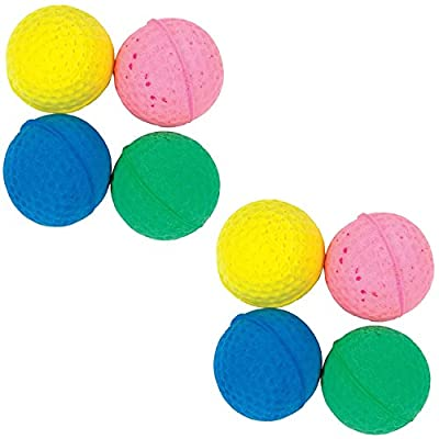 "Good Girl Soft Sponge Balls for Cats Golfball Style Lightweight Super Bouncy Even on Carpet 4cm/1.6"" Diameter Ball Toys for Adult Cats or Kittens Multicoloured Blue/Green/Yellow/Pink"