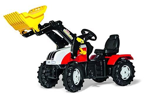 Rolly Toys Trettraktor Rolly Toys 046317 rollyFarmtrac Steyr CVT 6240 | Trettraktor mit Lader | Traktor mit Sitzverstellung, Flüsterreifen, Kettenschutz | Frontlader mit Automatikverriegelung | ab 3 Jahren | Farbe rot