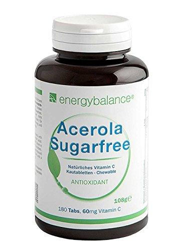 ACEROLA Bio Sugarfree la Vitamina C Naturale 60mg, 180 Compr. Masticabili