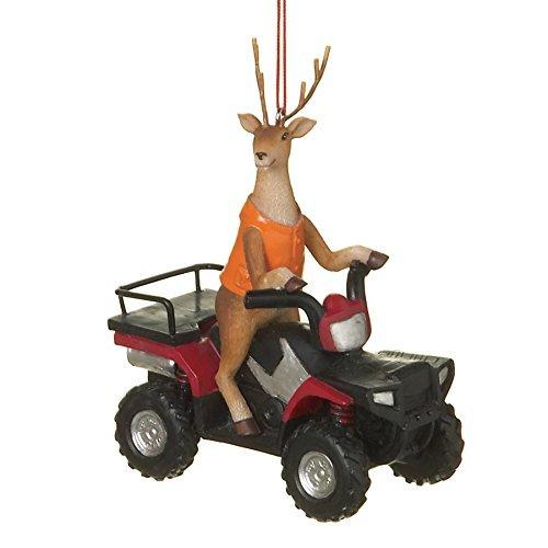 Midwest-CBK Deer Hunter Buck auf ATV Vier Wheeler Kunstharz Weihnachtsbaum Ornament - Buck Atv
