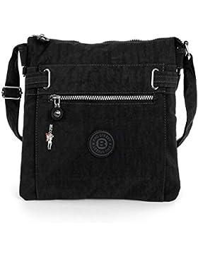2226 Bag Street Damen sportliche Handtasche Umhängetasche Schultertasche aus Nylon