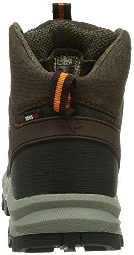 KangaROOS Kanga 3016 Unisex-Kinder Trekking- & Wanderstiefel Braun (dk brown/orange camo 379)