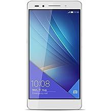 "Honor 7 - Smartphone libre de 5.2"" (4G, WiFi, Bluetooth, Dual Nano SIM, HiSilicon Kirin 935, 64 bit Super 8+1 Core, 2.2 GHz, 3 GB de RAM, 16 GB ROM, cámara de 20 MP/8 MP, Android 5.0 con EMUI 3.1) color plateado"
