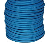 Câble électrique textile - Fil électrique tissu bleu