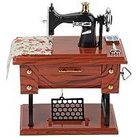Gwill - Mini máquina de Coser Vintage, Creativa y Retro, Caja de música,