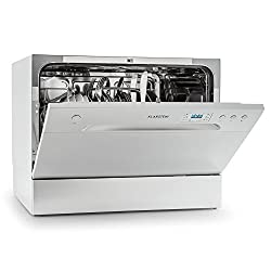 Klarstein Amazonia 6 Argentea Spülmaschine Tischgeschirrspüler (freistehend, A+, 174 kWh/Jahr, 55 cm breit, 49 dB leise, 6 Maßgedecke, 6 Programme, Aquastop) silber