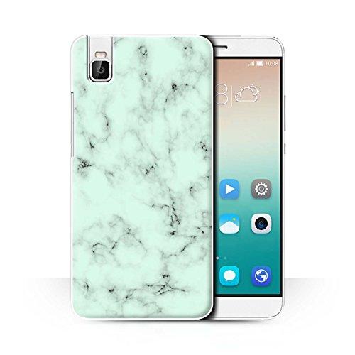 Stuff4® Hülle/Case für Huawei Honor 7i/ShotX/Grün Muster/Marmor Granit Bewirken Kollektion