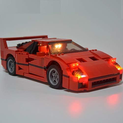 Daniko LED Beleuchtungsset für Lego Ferrari F40 10248 21004 (nur Lichtset)