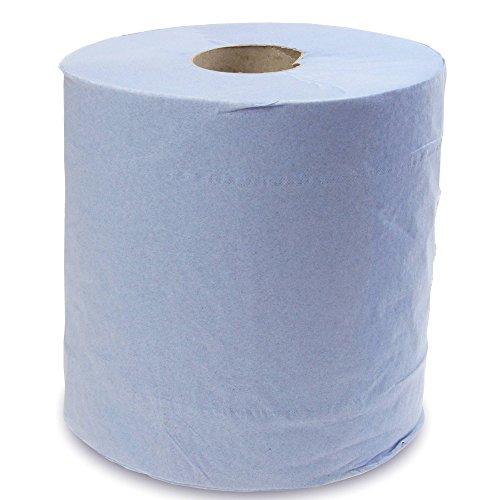 Papiertuchrollen für Papierhandtuchspender mit Zentraleinspeisung, 6 Stück, Blau