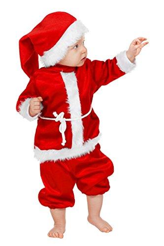 Weihnachtsmann Baby Kostüm von Gr. 74 - Gr. 98 4 tlg. (74) (Baby Weihnachtsmann Anzug)