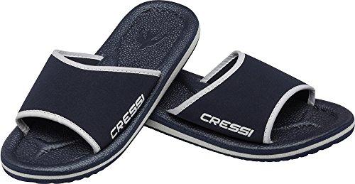 Cressi Lipari - Slipper für Strand und Schwimmbad - Erwachsene und Kinder Blau/Gelb