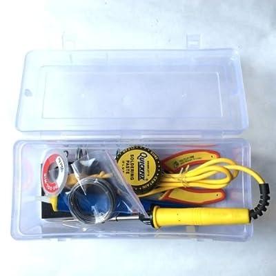 Generic Soldering kit Gilhot Alpha Shope 7 in 1 25W Diy Electric Solder Starter Tool Kit Set with Iron Stand Desolder Pump