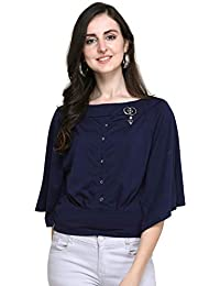 J B Fashion J B Women Plain Top with 3/4th Sleeves for Office Wear, Casual Wear, Under Top for Women/Girls Top