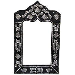 étnico Muebles de Espejo Marco Mosaico Puertas Marruecos marroquí Madera Tallada Oriental Hand Fabricado 0611181215