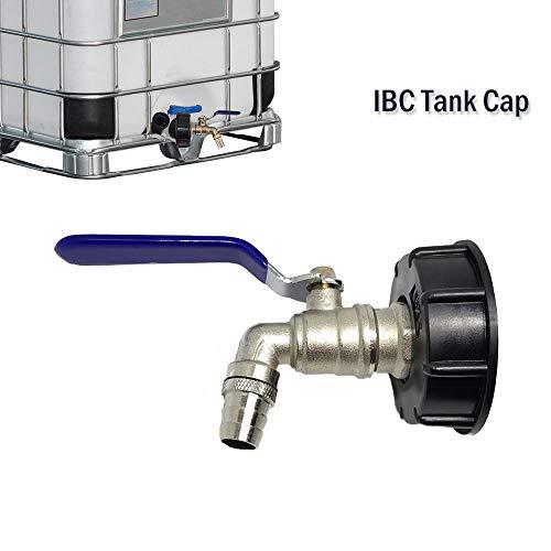 IBC Maso d'adaptateur de cuve IBC Tote Réservoir d'évacuation adaptateur S60 X 6 au Laiton robinet de jardin avec 3/10,2 cm Raccord de tuyau d'huile carburant d'eau