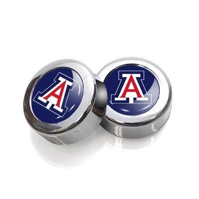 University of Arizona Wildcats License Plate, Frame Chrome Screw Covers