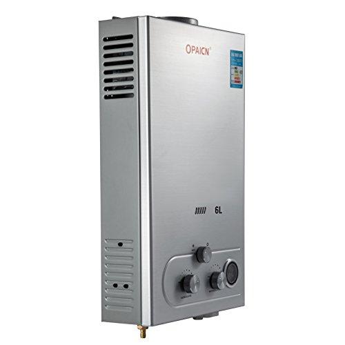 Cueffer LPG Calentador de Agua Calentador de Agua de Gas Licuado 36KW Calentador de Agua Automático LCD Digital Calentador de Agua Instantáneo Propane Gas Hot Water Heater (6L)