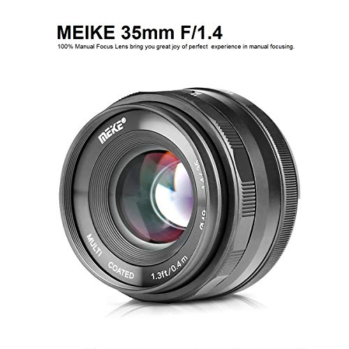 MEIKE MK-35mm F/1.4 Manual Focus Large Aperture Lens Compatible with Sony APS-C Mirrorless Camera Such as A6000 A6300 A6500 Digital Camera Manual