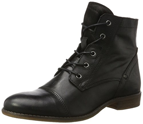9 Schwarz Leder (Mustang Damen 2830-521-9 Stiefel, Schwarz (Schwarz), 38 EU)