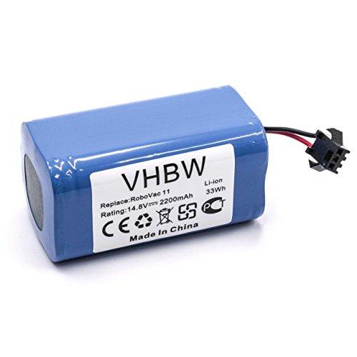 vhbw Akku passend für Eufy Robovac 11, 11S Saugroboter ersetzt Eufy 4INR/19/66 - (Li-Ion, 2200mAh, 14.8V) - Batterie, Ersatzakku
